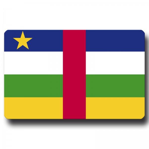 Flagge Zentralafrika, Magnet 8,5x5,5 cm