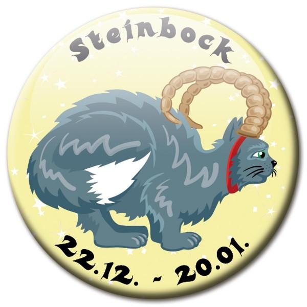 Magnet Katze - Sternzeichen Steinbock - Ø 5 cm