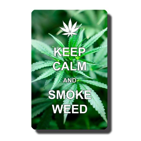 Cannabis Keep Calm, Magnet 8,5x5,5 cm