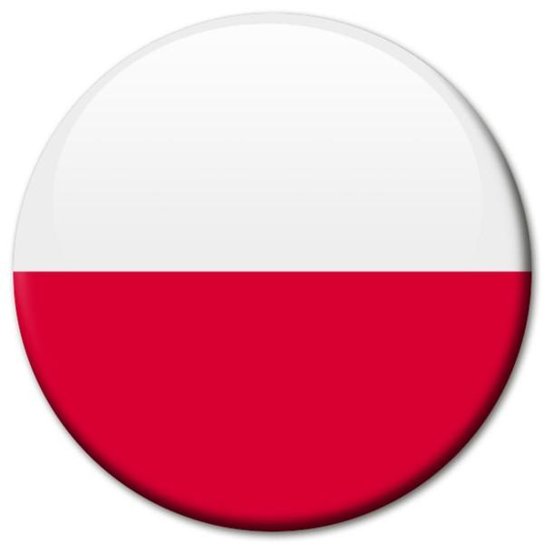 Flagge Polen, Magnet 5 cm