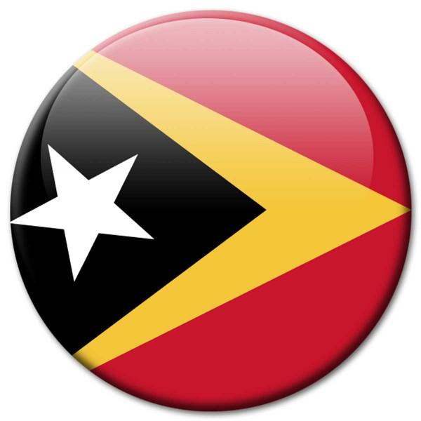 Flagge Osttimor, Magnet 5 cm