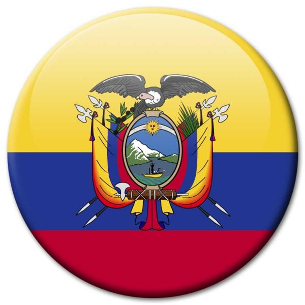 Flagge Ecuador, Magnet 5 cm