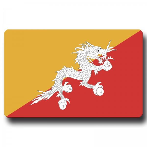 Flagge Bhutan, Magnet 8,5x5,5 cm