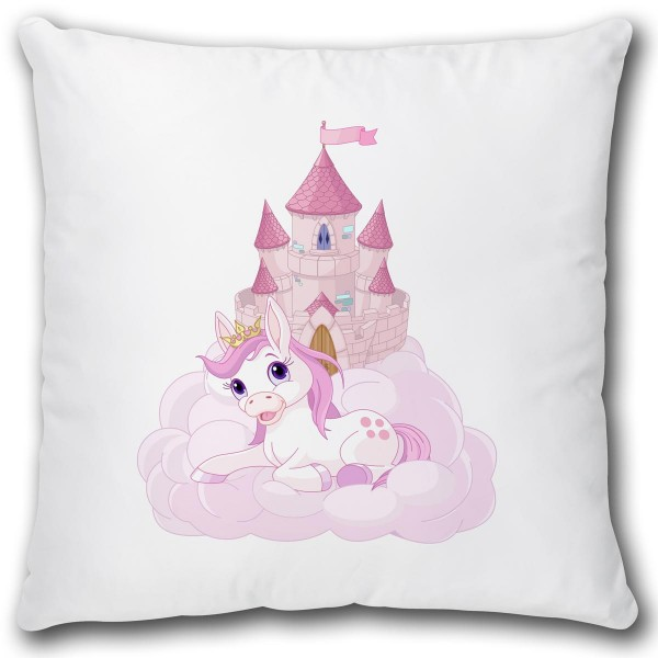Pony Prinzessin Schloss, Kissen 40x40 cm