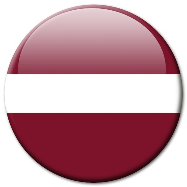 Flagge Lettland, Magnet 5 cm