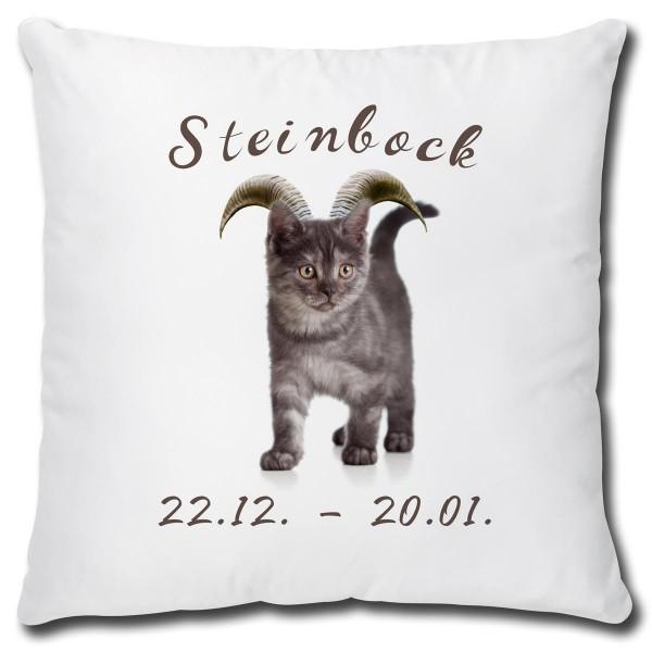 Sternzeichen Steinbock Katze, Kissen 40x40 cm