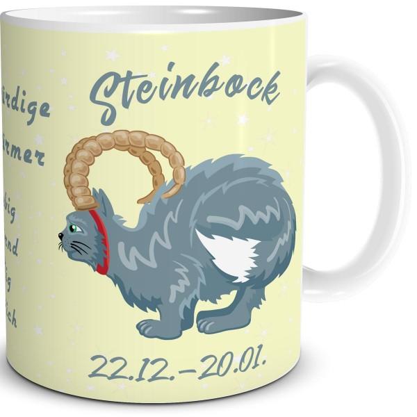 Sternzeichen Steinbock Katze Cartoon, Tasse 300 ml