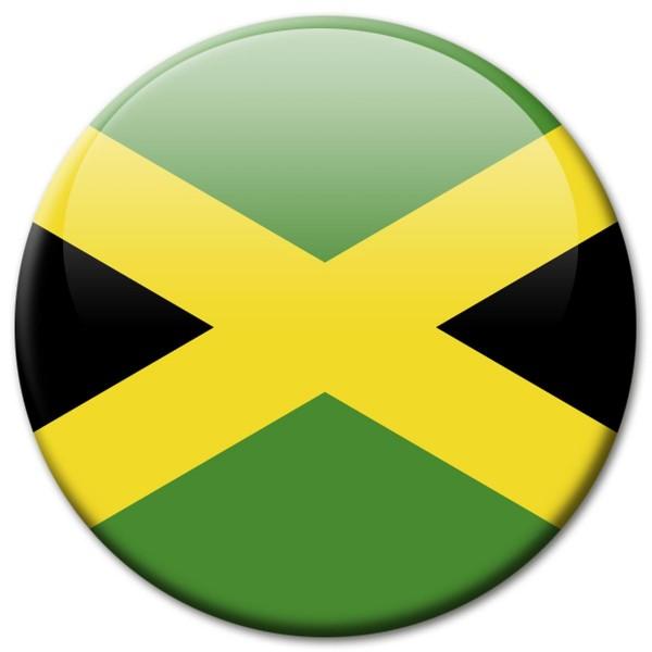 Flagge Jamaika, Magnet 5 cm