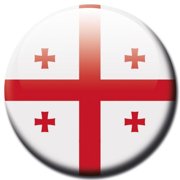 Flagge Georgien, Magnet 5 cm