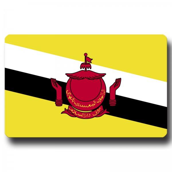 Flagge Brunei, Magnet 8,5x5,5 cm