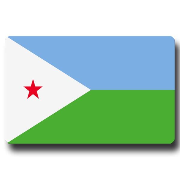 Flagge Dschibuti, Magnet 8,5x5,5 cm