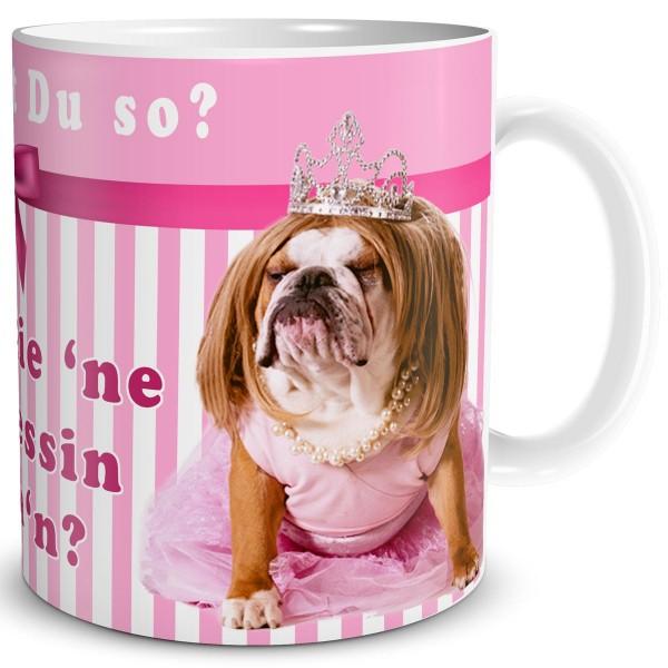 Hunde Mops Prinzessin Was glotzt Du so, Tasse 300 ml