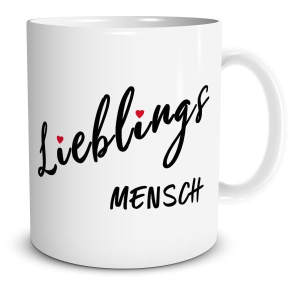 """Kaffeetasse mit Spruch """"Lieblingsmensch"""""""