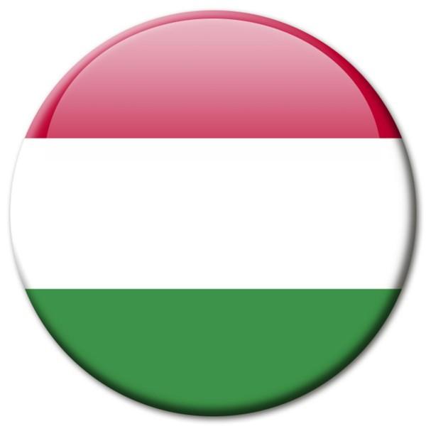 Flagge Ungarn, Magnet 5 cm