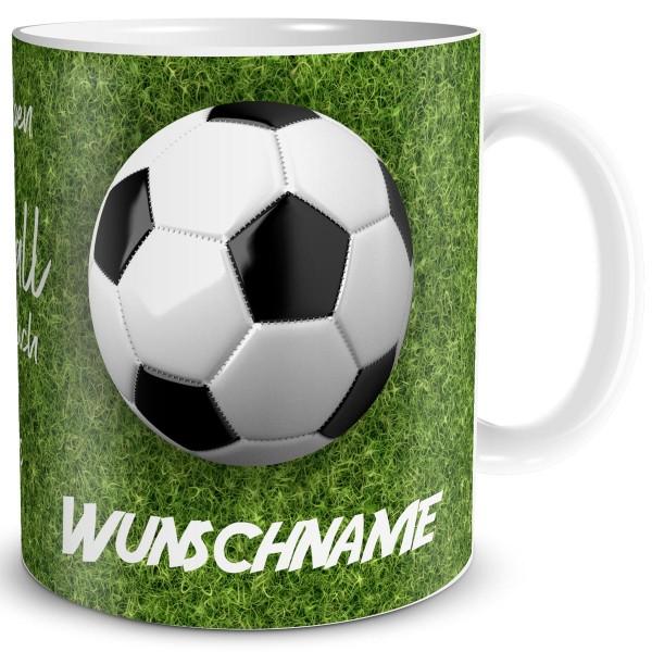 Leben ohne Fußball mit Wunschname, Tasse 300 ml
