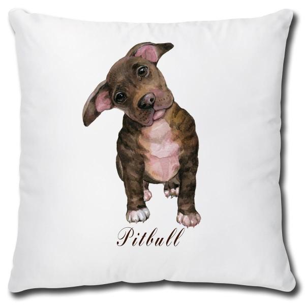 Pitbull Hund, Kissen 40x40 cm