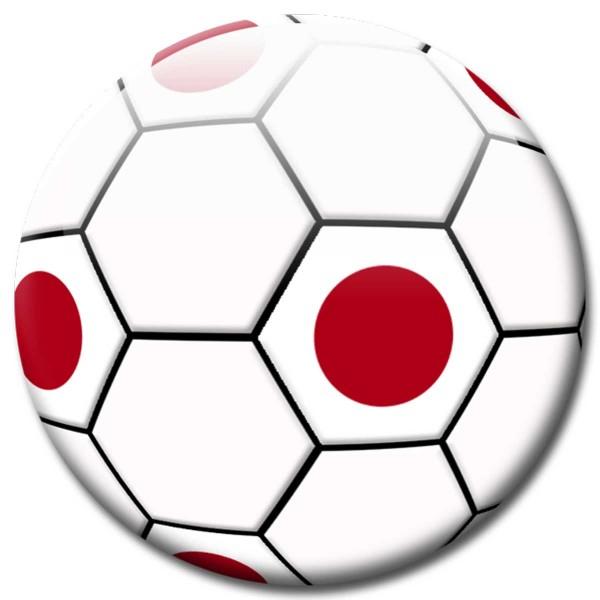Magnet Fußball - Flagge Japan - Ø 5 cm