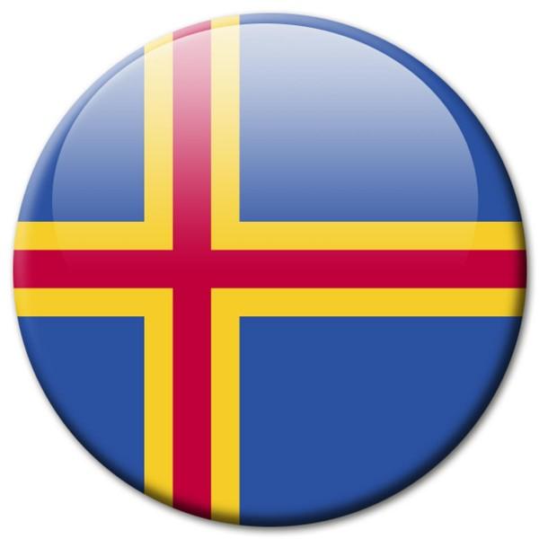 Flagge Aland, Magnet 5 cm