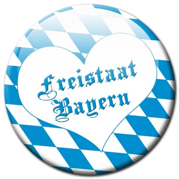 Fan Magnet Region Freistaat Bayern Raute mit Herz - Ø 5 cm