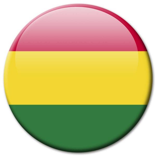 Flagge Bolivien, Magnet 5 cm