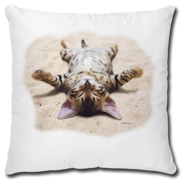 """Kissen mit Katze """"Besondere Perspektive"""" - 40x40 cm"""