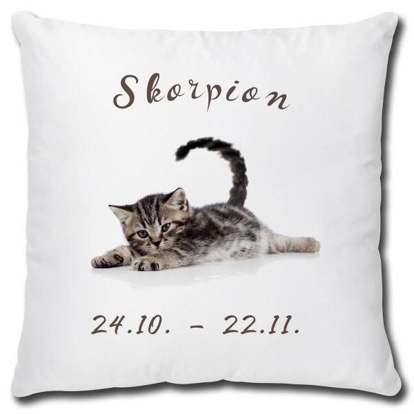 Sternzeichen Skorpion Katze, Kissen 40x40 cm