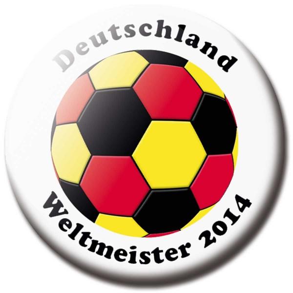 Magnet Fußball - Flagge Deutschland Weltmeister 2014 - Ø 5 cm
