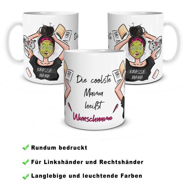 "Tasse Mama ""Krasse Mama"" mit Wunschname"