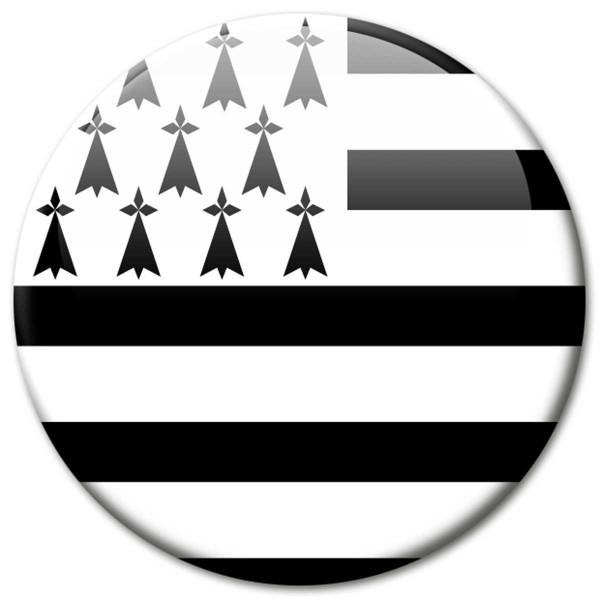 Flagge Bretagne, Magnet 5 cm