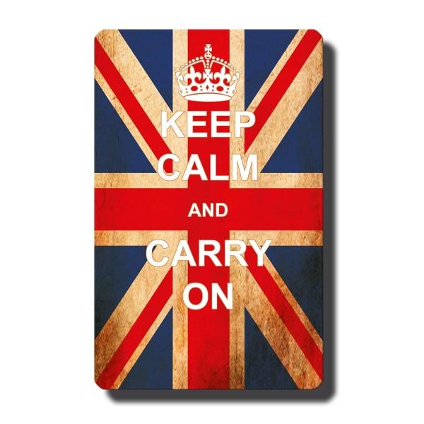 Flagge UK Keep Calm, Magnet 8,5x5,5 cm