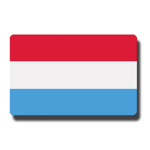 Flagge Luxemburg, Magnet 8,5x5,5 cm