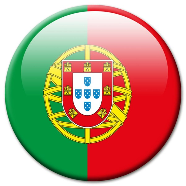 Flagge Portugal, Magnet 5 cm