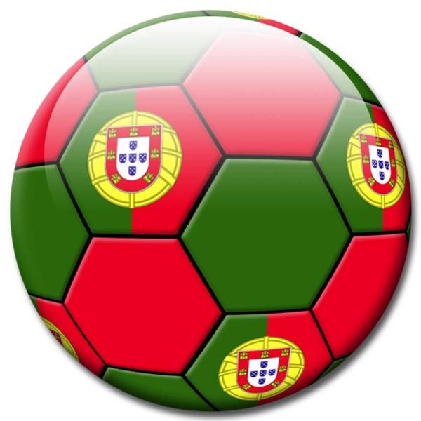 Magnet Fußball - Flagge Portugal - Ø 5 cm