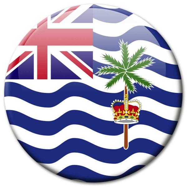 Flagge Britisches Territorium Indischer Ozean, Magnet 5 cm