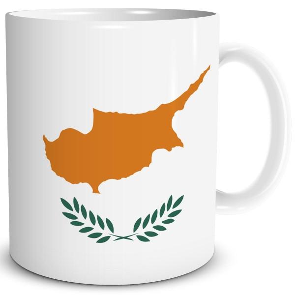 Flagge Zypern, Tasse 300 ml