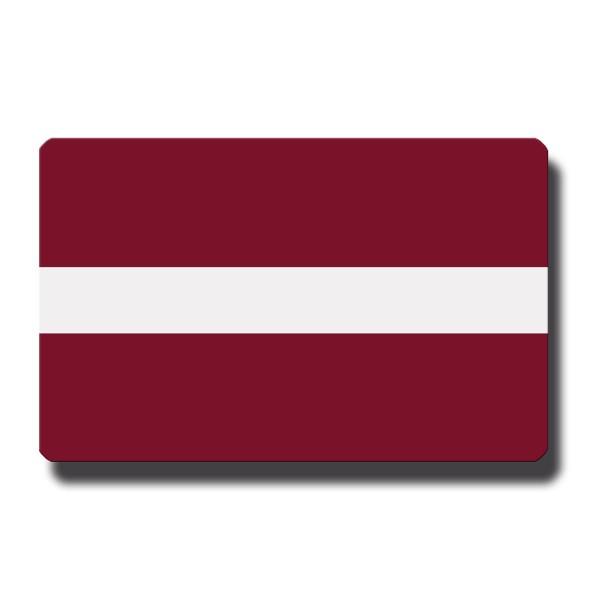 Flagge Lettland, Magnet 8,5x5,5 cm