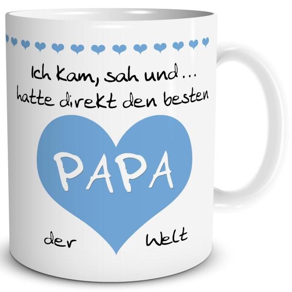 """Papa Herz """"Bester der Welt"""" Hellblau, Tasse 300 ml"""