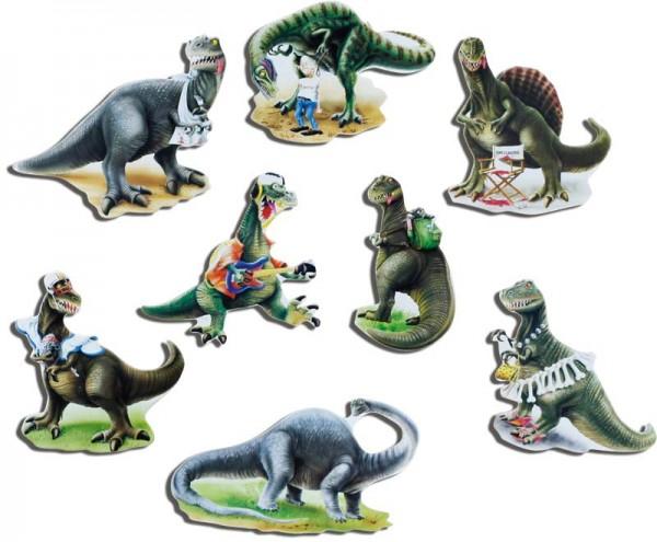 Magnete 8er-Set Dinosaurier