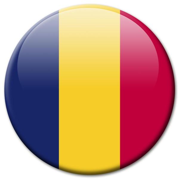 Flagge Tschad Chad, Magnet 5 cm