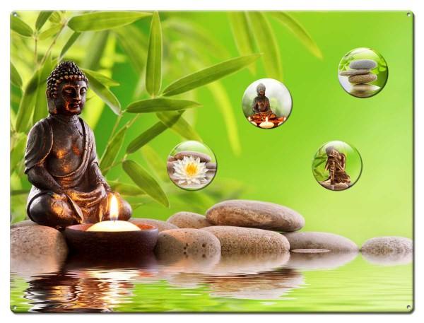 Magnettafel 40x30 cm Buddha Wellness inkl. Magnete