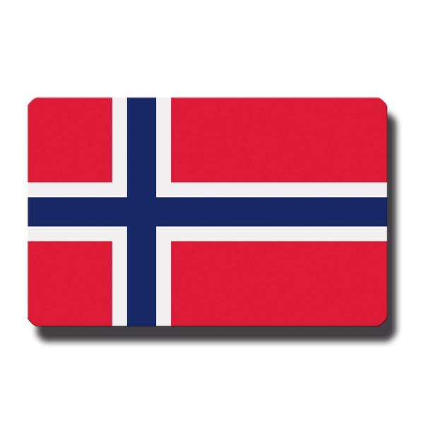 Flagge Norwegen, Magnet 8,5x5,5 cm