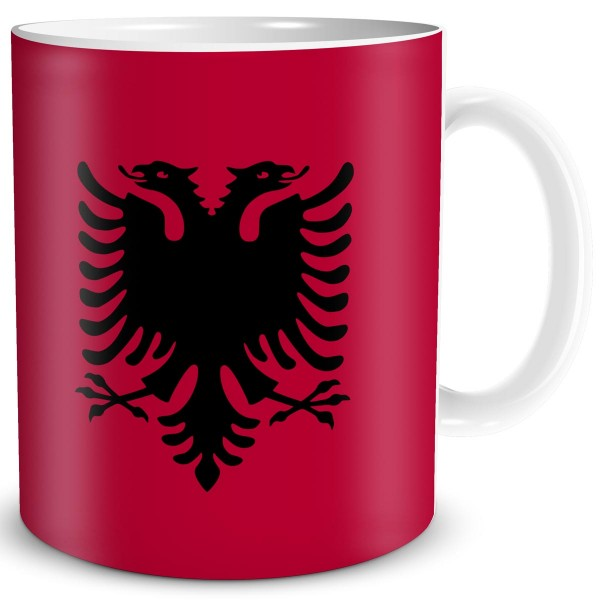 Flagge Albanien, Tasse 300 ml