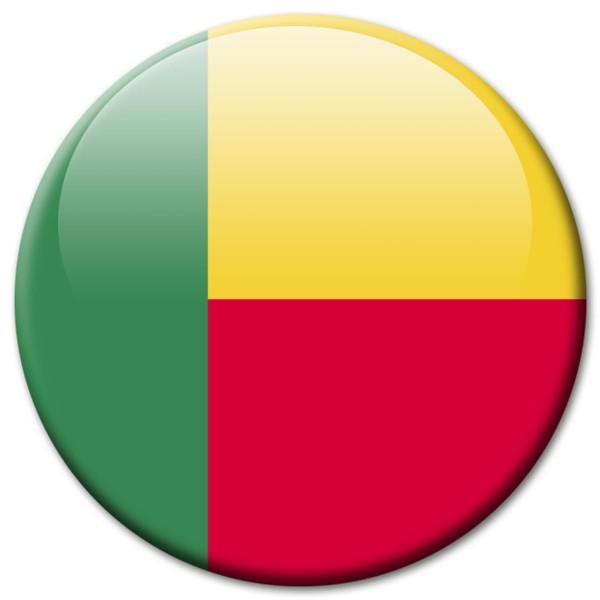 Flagge Benin, Magnet 5 cm