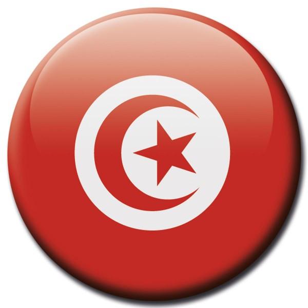Flagge Tunesien, Magnet 5 cm