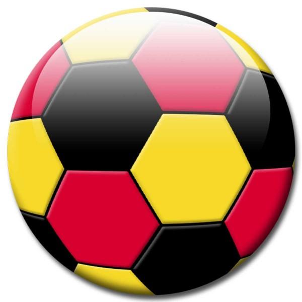Magnet Fußball - Flagge Deutschland - Ø 5 cm