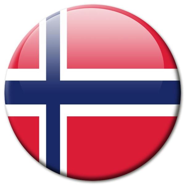Flagge Norwegen, Magnet 5 cm