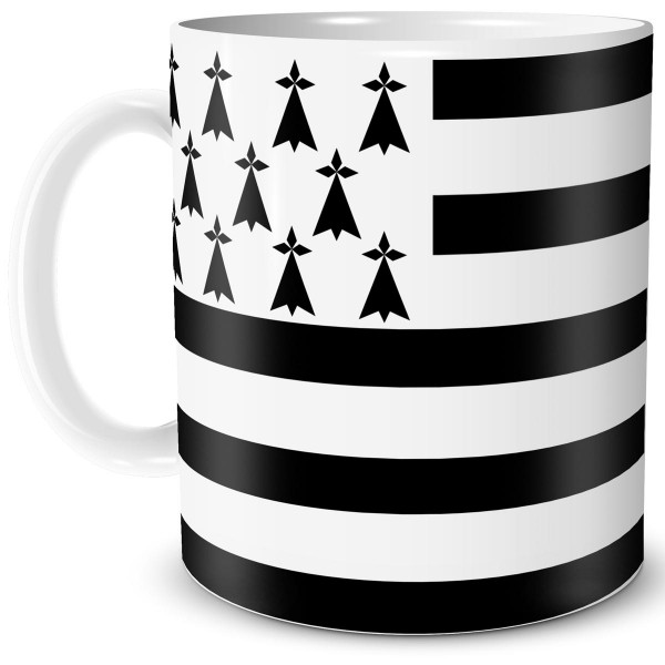 Flagge Bretagne, Tasse 300 ml