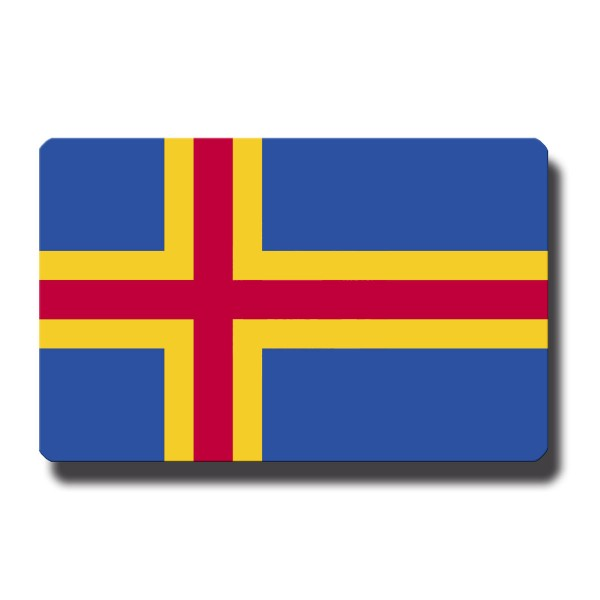 Flagge Aland, Magnet 8,5x5,5 cm
