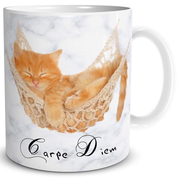 Katze Carpe Diem, Tasse 300 ml