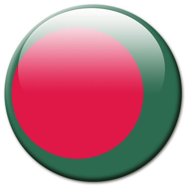 Flagge Bangladesch, Magnet 5 cm